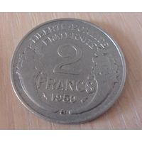 2 франка Франция 1950 г.в. В,KM# 886a.2, 2 FRANCS, из коллекции