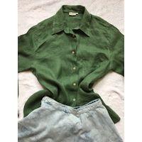 Блуза рубашка Franco Callegari лён 46-48 марк 36