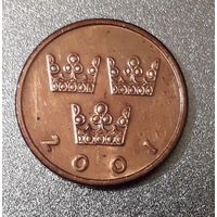 Швеция 50 эре 2001 год, бронза