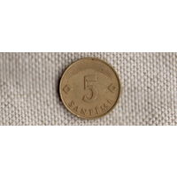 Латвия 5 сантим 1992(Qu)