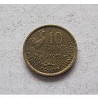 Франция 10 франков 1955 Четвертая Республика
