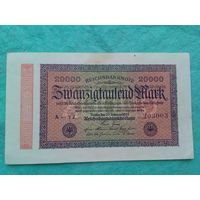20000 марок 1923,Германия,Состояние!!!,много лотов в продаже!!!