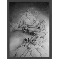 """Иллюстрация к роману """"Поселок"""" Кира Булычева. Размер А3. Автор Крис"""