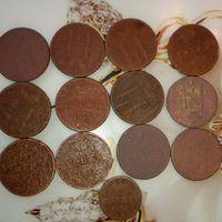 Николай 1   ( денежка и полушка ) монеты  13 шт.