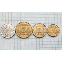 СААР комплект10-20-50-100 франков 1954
