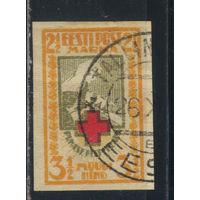 Эстония Респ 1921 Красный крест #29B