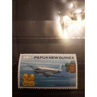 Марка Папуа - Новой Гвинеи - Самолет
