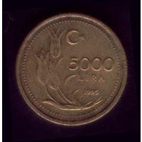 5 000 Лир 1995 год Турция