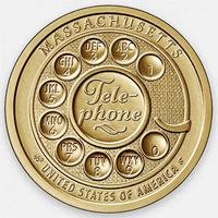 1 доллар 2020  США Серия Инновации Телефон. Массачусетс. двор D UNC!