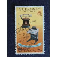 Остров Гернси 1979г. Телекоммуникация.