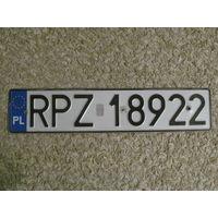 Автомобильный номер Польша RPZ18922