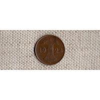 Германия 1 пфенниг 1924 A рентенпфенниг(Ab)