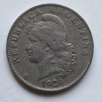 Аргентина 20 сентаво, 1929  4-10-47