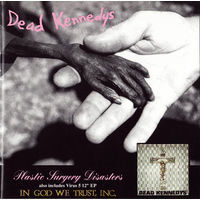"DEAD KENNEDYS - CD ""Plastic Surgery Disasters / In God We Trust, Inc."" Original  VIRUS 5/27CD 1981/82  made in USA"