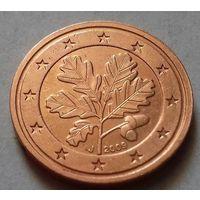 2 евроцента, Германия 2009 J, AU