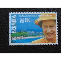 Бермудские острова 1992 г. Королева Елизавета II.
