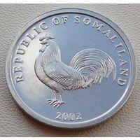 "Сомалиленд. 5 шиллингов 2002 год КМ#5 ""Петух"""