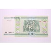 Беларусь, 100 рублей серия кА 1144449, UNC