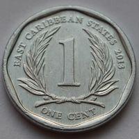 Восточные Карибы, 1 цент 2013 г