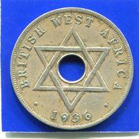 Британская Западная Африка 1 пенни 1936 Н