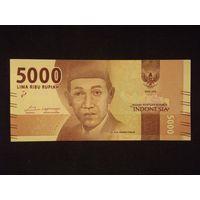 Индонезия, 5000 рупий 2016 год,  UNC