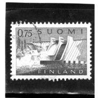 Финляндия.Ми-566. Электростанция Pyhаkoski. 1963.