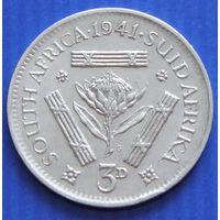 "ЮАР. 3 пенса 1941 год KM#15.2  ""Георг VI"""