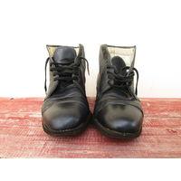 Ботинки офицерские мвд хромовые100% натуралная кожа ссср 1 сорт