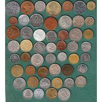 Сборный лот монет 51 шт. без повторов хорошее качество