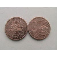 Литва 2 евро цент 2015 г