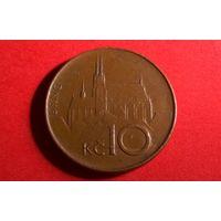 10 крон 1993. Чехия.