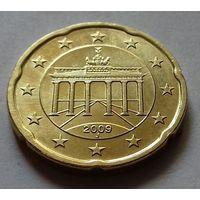 20 евроцентов, Германия 2009 J, AU