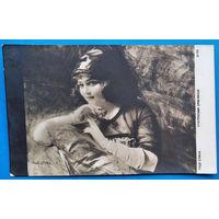Старинная открытка. Таде Стика. Итальянская красавица. Подписана.