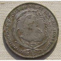 Редкая монета.20 крейцеров  1765, Трир.