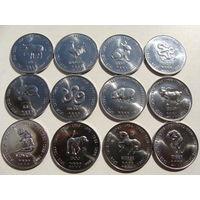 СОМАЛИ. набор 12 х 10 шиллингов 2000 год / Восточный Гороскоп / UNC-AU