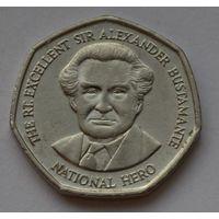 Ямайка 1 доллар, 1995 г. (Форма 7-угольник).