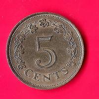 28-30 Мальта, 5 центов 1976 г