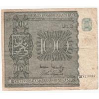 Финляндия 1945 год 100 марок VF Lit B серия АК