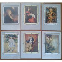 Западноевропейская живопись. 6 открыток. 1984 г.
