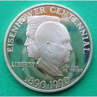 1 доллар 1990P EISENHOWER CENTENNIAL.  KM# 227