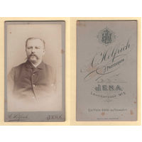 Кабинет-фото / Портрет мужчины, усы / A. Helfrich, Jena