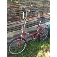 Велосипед СССР складной красный