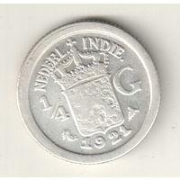 Голландская Индия 1/4 гульдена 1921