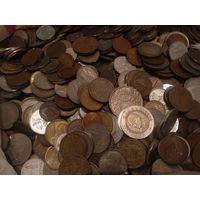 3,48 кг килограмм монет мира из разных стран без России Украины СССР