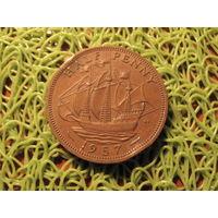 1/2 пенни 1957 Британия KM# 896 бронза 711