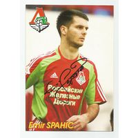 Emir Spahic(ФК Локомотив Москва, Россия). Живой автограф на большой карточке.