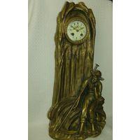 Арт-нуво  Красивейшие каминные часы.  O.BOBBIAS . Франция 1890-1919 гг.