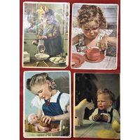 Старинные открытки Дети оккупация 1942 год цена за все