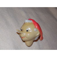 Буратино (голова), целлулоид, игрушка СССР