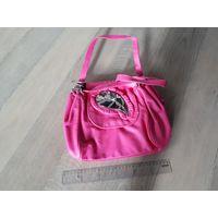 Женская сумка, розовая, подростковая.